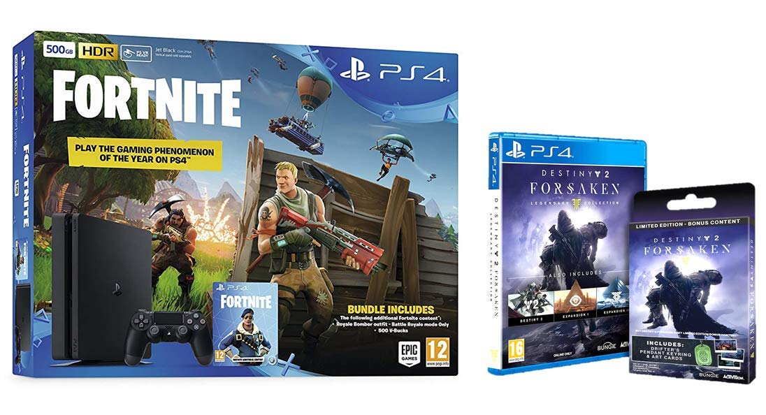 Sony PS4 500GB Fortnite & Royal Bomber Pack + Destiny 2: Forsaken ...