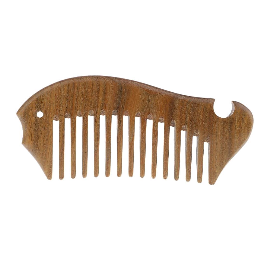 gazechimp 木製櫛 帯電防止櫛 ヘアコーム 頭皮 ケア マッサージ