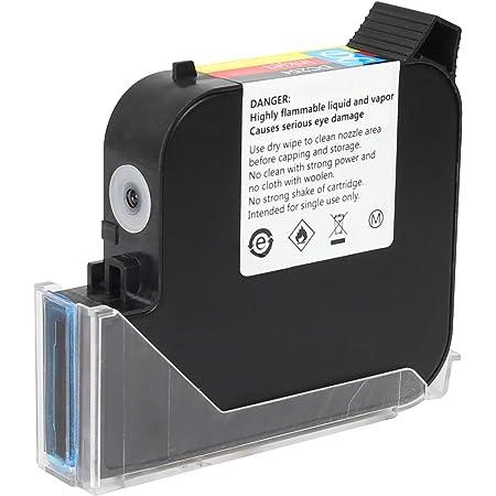 MEENJET Cartouche d'encre Originale à Séchage Rapide de 60 ml pour Imprimante à jet d'encre Portable 1580P2(Noir)