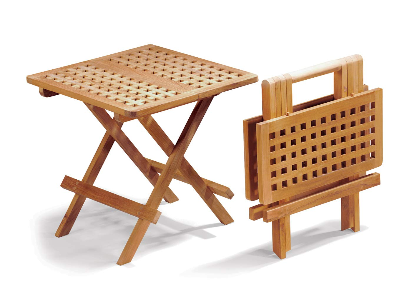 - Jati Folding Picnic Table - A-Grade Teak Folding Garden Coffee