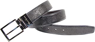Men's Garrison Reversible Leather Belt, Black