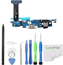 Unifix Charging Dock Charger Flex USB Port Connector For Samsung Galaxy S6 Edge SM-G925V Verizon + Repair Toolkit
