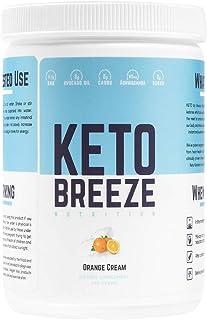 Keto Breeze: Exogenous Ketones | BHB Salts + Ashwaghanda + Avocado Oil | Ketogenic Weight Loss | Increase Energy & Focus -...