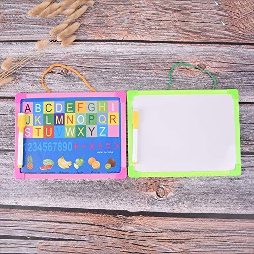 Lilying De Oficina .White Tarjeta Seca Limpie la Tarjeta Que cuelga de Planchar Mini Dibujo de la Pizarra pequeña con rotulador, Entrega Color al Azar