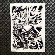Ancient Japanese samurai mask tribal TEMPORARY TATTOO scar cover up stretch mark cover up mythical Dragon skull samurai smoke snake katana zen samurai warrior FAKE TATTOO cover up conceal body make up
