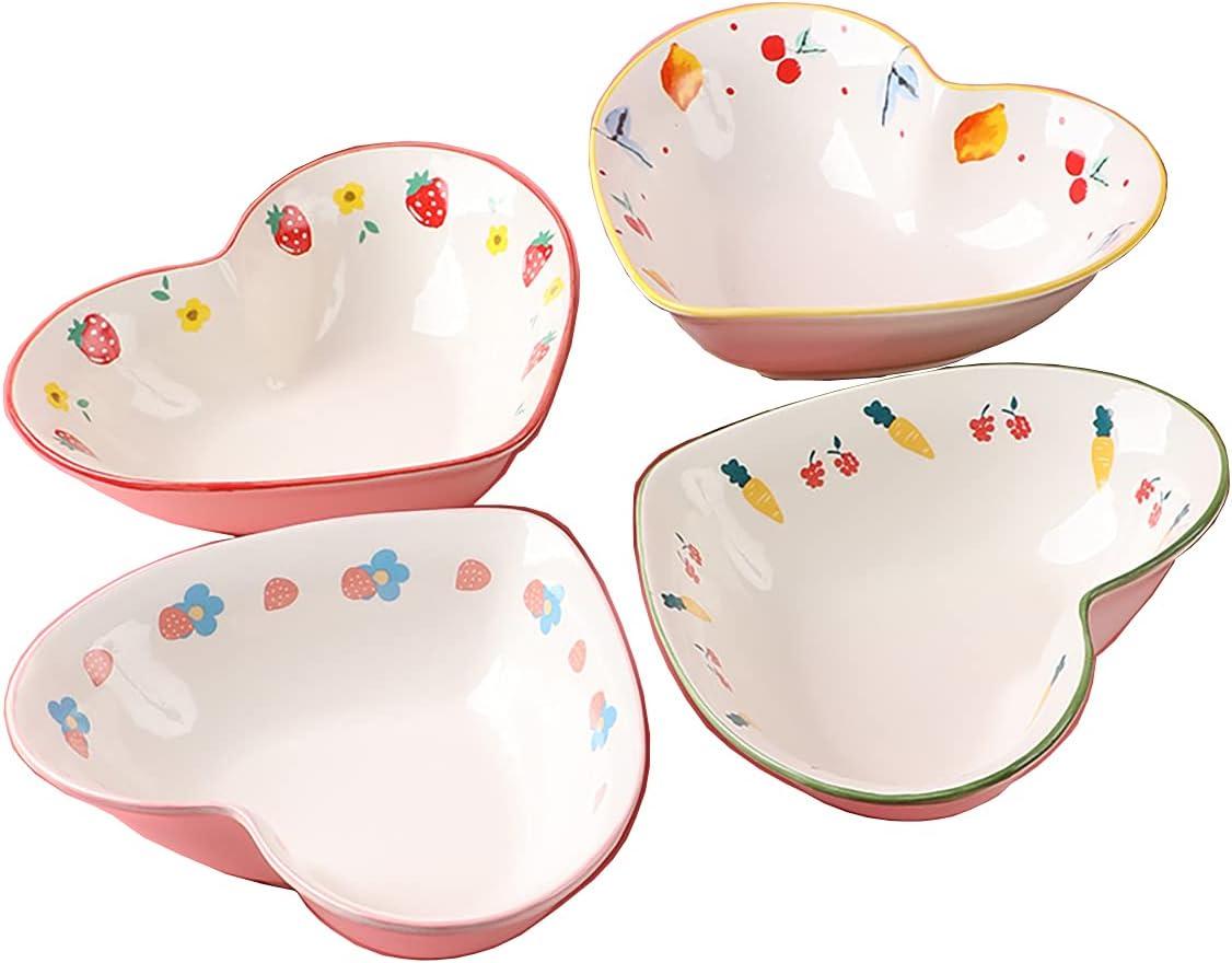 Bicuzat Pink El Paso Mall Translated Flower Pattern Ceramic 4 Dinnerware Set Dinner