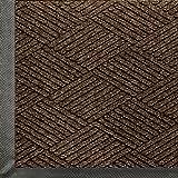 WaterHog Eco Commercial-Grade Entrance Mat, Indoor/Outdoor Black Smoke Floor Mat 4' Length x 3' Width, Chestnut Brown by M+A Matting