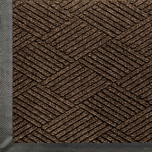 WaterHog Eco Premier | Commercial-Grade Entrance Mat with Diamond Pattern & Rubber Border | Indoor/Outdoor, Quick-Drying, Stain Resistant Door Mat (Chestnut Brown, 2x3)