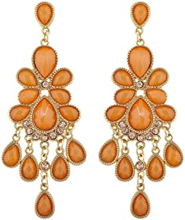 Lux Accessories Chandelier Shimmer Statement Earring