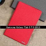 Coque pour Samsung Galaxy Tab 3 T210 T211 Housse de Protection Rabattable Housse en Cuir PU pour...