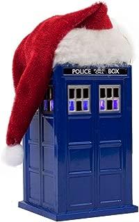 Kurt Adler 4.5-Inch Doctor Who TARDIS with LED Light and Santa Hat