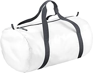 BagBase Packaway Barrel Bag/Duffle Water Resistant Travel Bag (32 Litres) (Pack of 2)