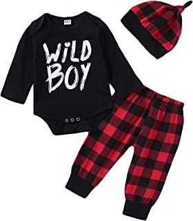 Best Newborn Baby Boys Clothes Wild Boy Letter Print T-Shirt Tops and Pants Outfits Set Summer Spring Review