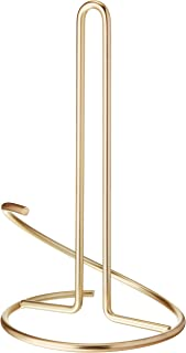 Spectrum Diversified 41666 Euro Supreme Paper Towel Holder Roll Dispenser Stand for Kitchen Countertop & Dining Room Table, Gold