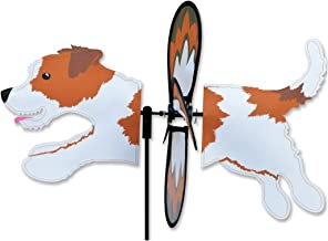 Premier Kites Petite Wind Spinner for Patio, Lawn, Garden | 100% Rain & UV Resistant Polyester - Aerodynamic, Sturdy Long Lasting Dog Wind Spinner (Jack Russell)