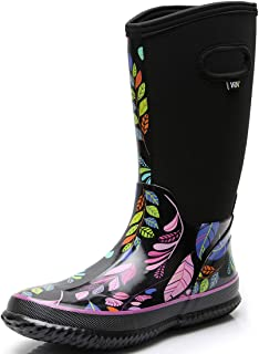 rain boots in snow