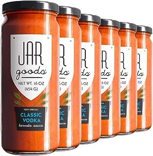 Jar Goods Classic Vodka Tomato Sauce 16 oz Glass Jars (Pack of 6)