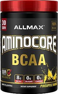 AMINOCORE BCAA – 8G BCAAs – 100% Pure Branch Chained Amino Acids – Gluten Free - Pineapple Mango - 315 Gram