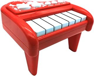 Emob® Kids Pretend Play Mini Musical Piano Toy with Light and Sound Effects (Red)