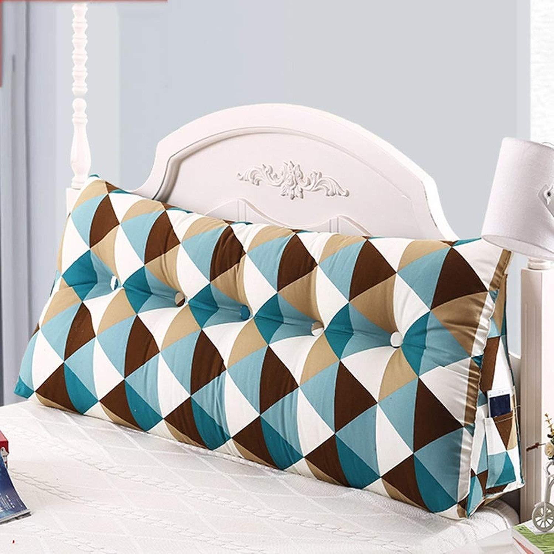 Coussin Triangle Double Coussin Lombaire Coussin Oreiller Princesse Lombaire (Couleur   Q, taille   150x23x50cm)