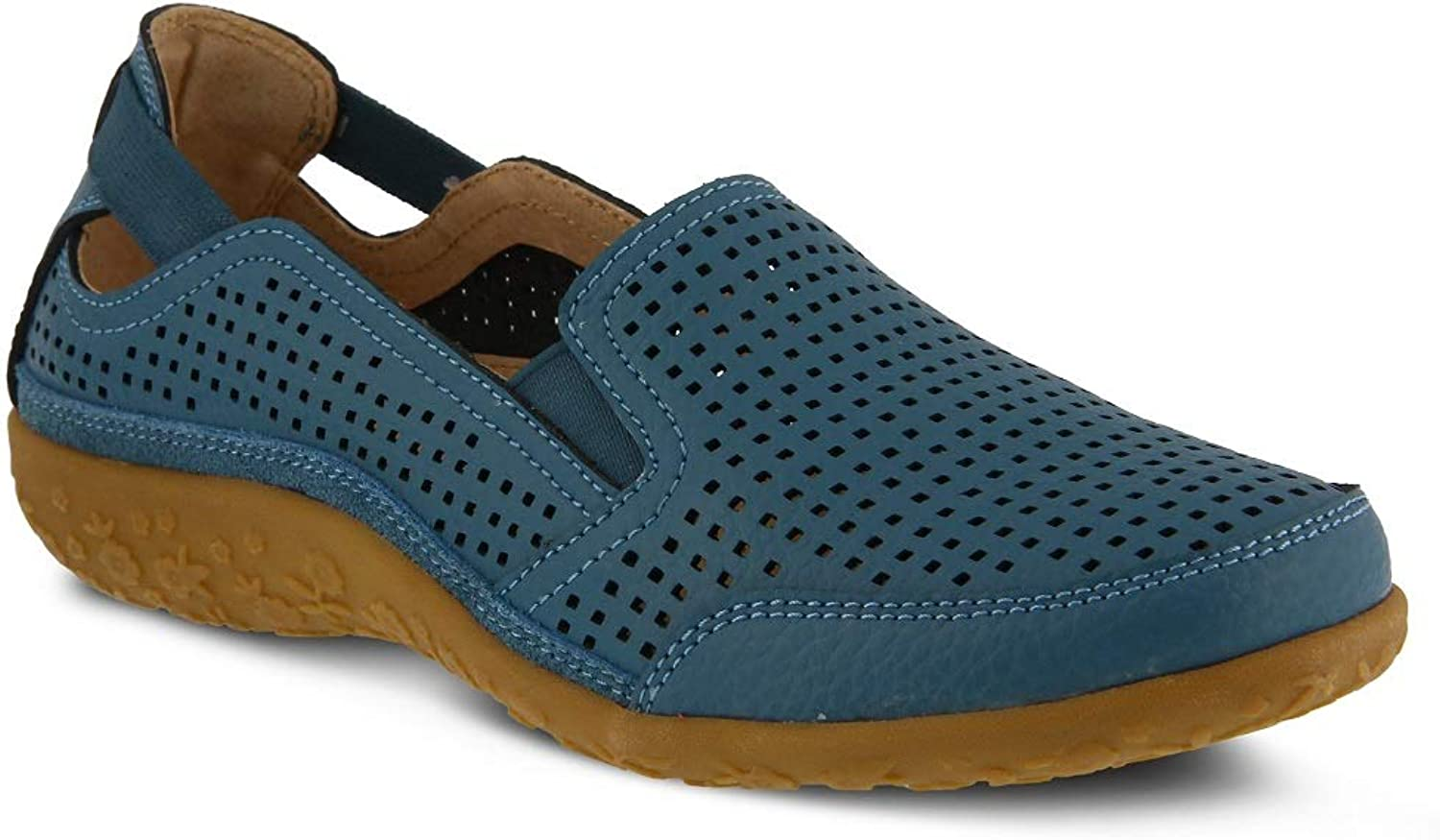 Spring Step Women's Juhi shoes   color bluee   Leather shoes