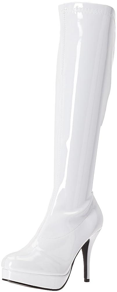 ネクタイ石のむしゃむしゃEllie Women's Sexy Knee High Boots in Black Leather Elegant 4 inch heel