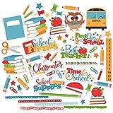Paper Die Cuts - School Days - Over 60 Cardstock Scrapbook Die Cuts - by Miss Kate Cuttables