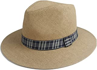 Sun Hat for men and women Fashion Sun Hat Straw Summer Solid Color Wide Cloth Strip Decoration Ladies Hat Straw Hat Panama Sombrero Beach Holiday Hat Visor