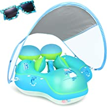 Laycol Baby Swimming Float with Sun Canopy Over UPF50+ , Baby Floats for Pool Add Tail..