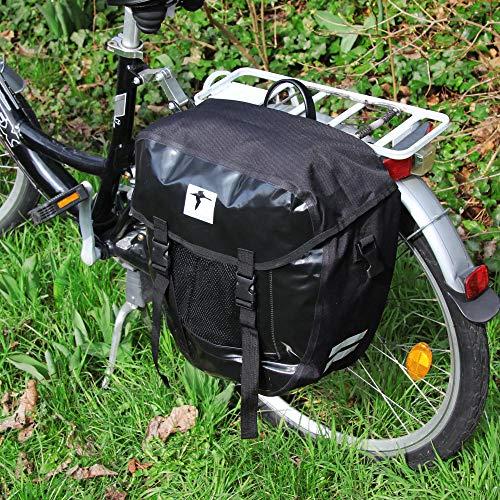 Red Loon Packtasche Gepäckträgertasche Fahrradtasche LKW Plane wasserdicht, Farbe:Schwarz