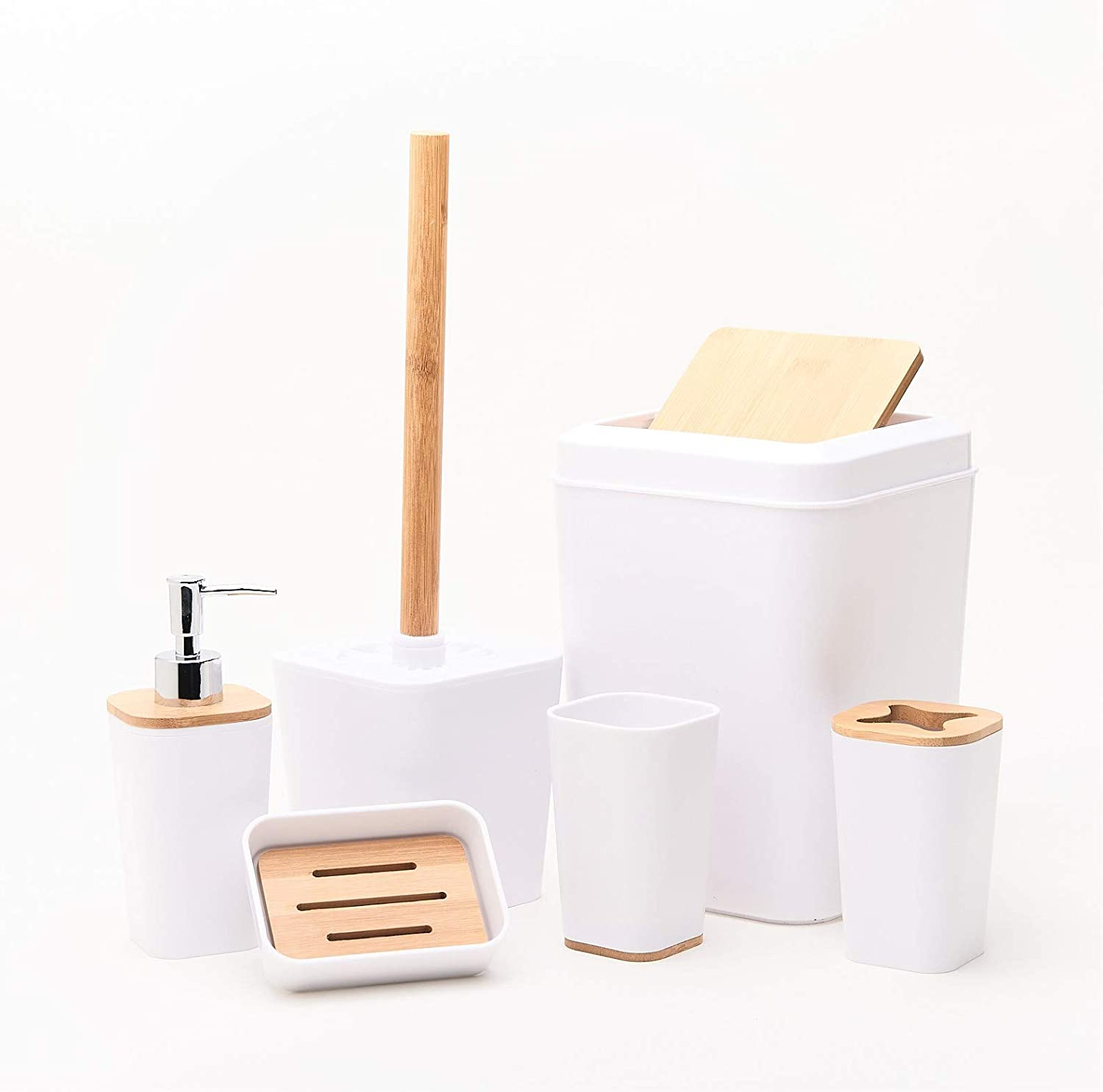 Ranking TOP8 KRALIX Bathroom Set 6 Toothb Accessories Plastic 70% OFF Outlet Pieces