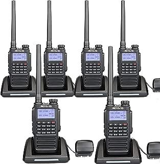 Retevis RT87 2 Way Radio Long Range 5 Miles Waterproof Dual Band VHF UHF 128 Ch VOX FM Radio Construction Two-Way Radio Handheld Heavy Duty(6 Pack)