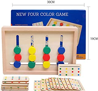 Wooden Brain Teasers Logic Puzzle Toys Hand-Eye Collaboration Toys Funny Educational Toys Mind Puzzles for Kids Age 3 4 5 ...