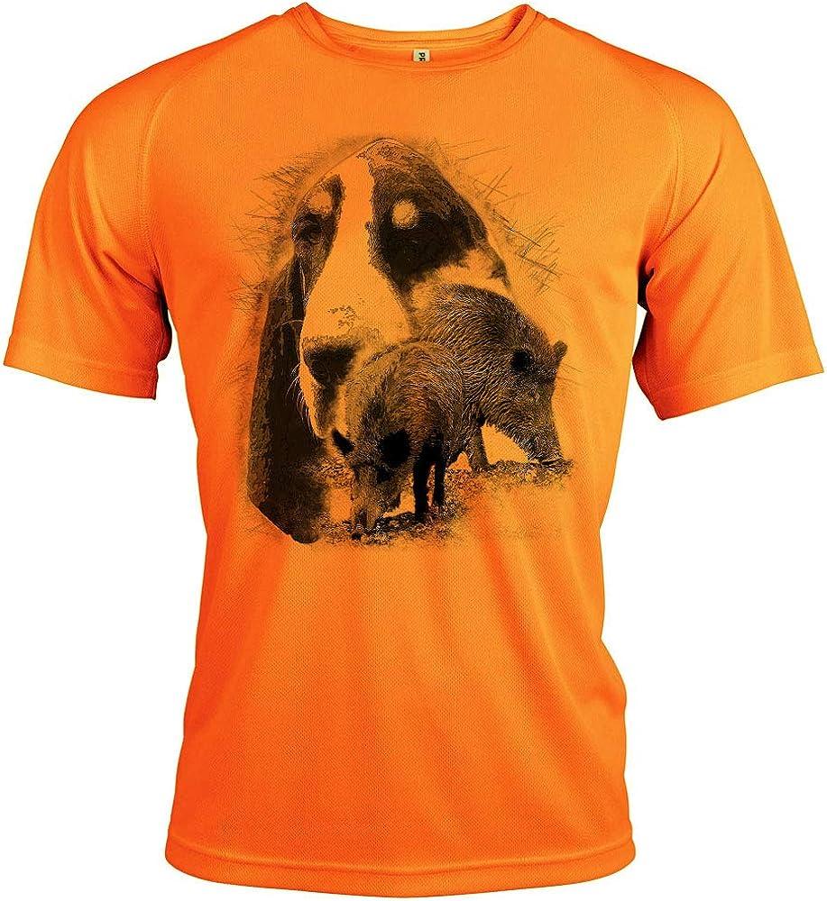 Pets-easy t Shirt - Chasse, diseño de sándalo y gascón