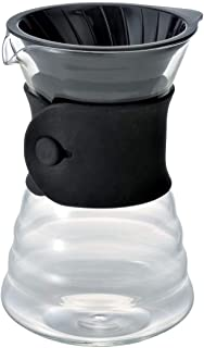 Hario VD 700 ml V60 Drip Dekanter Pourover Coffee Brewer Server för 2-3 koppar, transparent