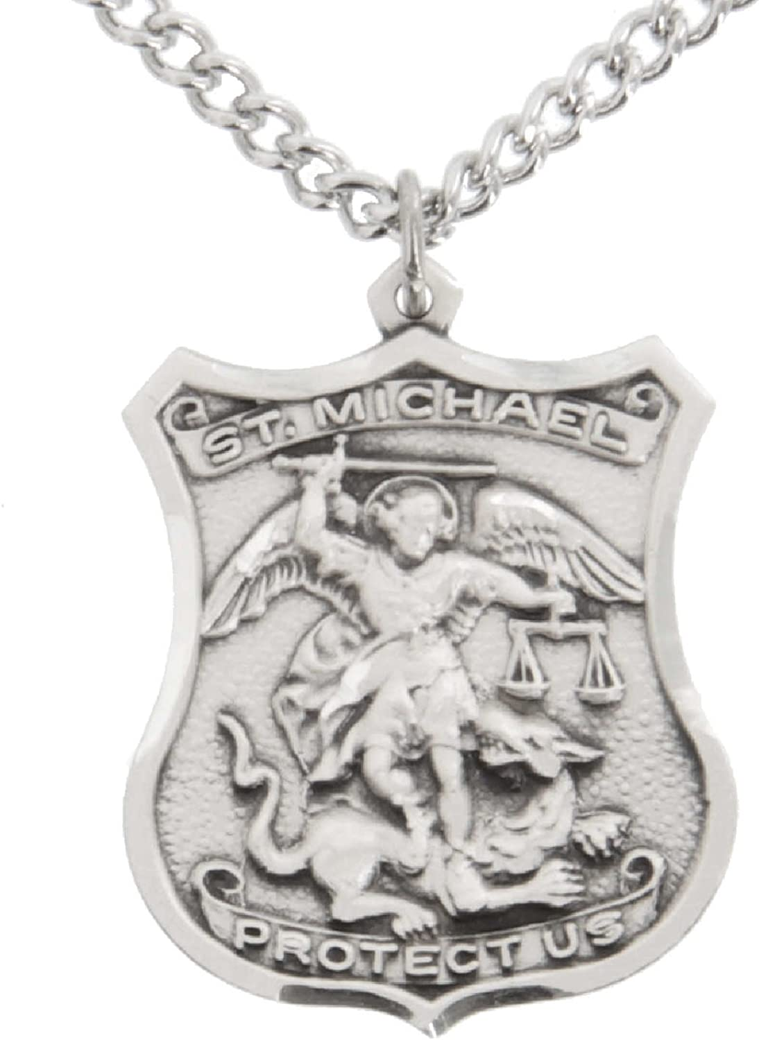 men St Michael/'s Archangel medal Necklace Religious Men/'s Medal Catholic Jewelry Pendant for Police US Air Force Pilot Gift Medal
