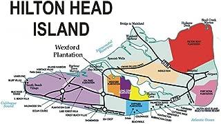 Hilton Head Island Map, South Carolina, SC, Souvenir Magnet 2 x 3 Photo Fridge Magnet