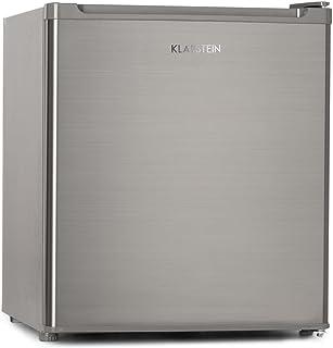 Klarstein Garfield Eco - Mini Congelador 4 estrellas, Nevera 34 Litros capacidad, 117 kWh/año, 2 Niveles, Silencioso 41 dB, Rejilla extraíble, Compacto, Clase energética A ++, Plata
