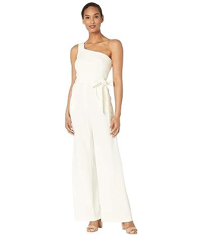 Calvin Klein Belted One Shoulder Jumpsuit (Cream) Women