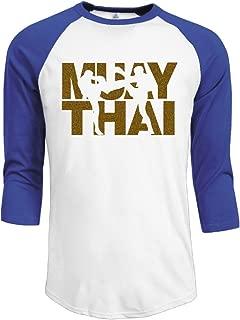 Men's Muay Thai Boxing Baseball T-Shirt Black