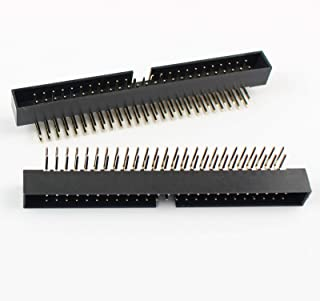 100Pcs 2mm 2.0mm Pitch 50 Pin Right Angle Male Shrouded IDC Box Header Connector