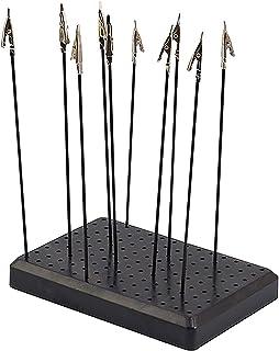 10 Stks Alligator Clip Sticks met Base Houder voor Hobby Modeling DIY Card Foto Memo
