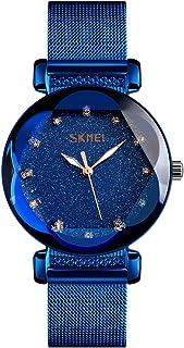 Women's Fashion Starry Sky Watch Luxury Waterproof Analog Quartz Watches for Women Casual Luminous Ladies Wrist Watch with...
