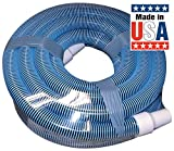 Poolmaster 33430 Heavy Duty In-Ground Pool Vacuum Hose With Swivel Cuff, 1-1/2-Inch by 30-...