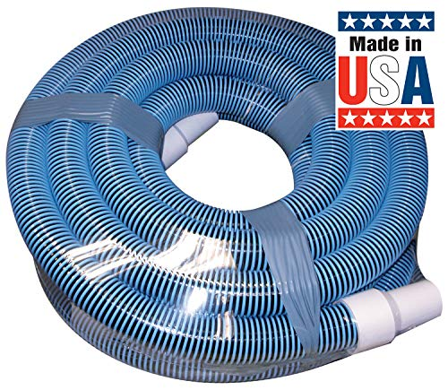 Poolmaster 33435 Heavy Duty In-Ground Pool Vacuum Hose With Swivel Cuff, 1-1/2-Inch by 35-Feet,Neutral