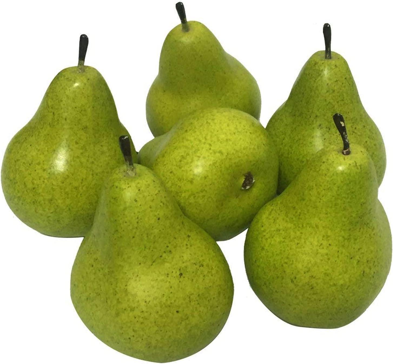 Weekly update JSJJEDC Artificial Fruit 1 6PCS Attention brand Lifelike Green