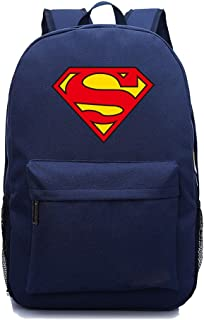 26713eb251b YOURNELO Leisure DC Comics Marvel Heroes High Capacity Rucksack School  Backpack Bookbag (Superman Navyblue)