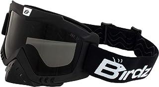 Birdz Eyewear Toucan Motorcycle Goggles with Nose Guard + Smoke Anti-Fog Lenses