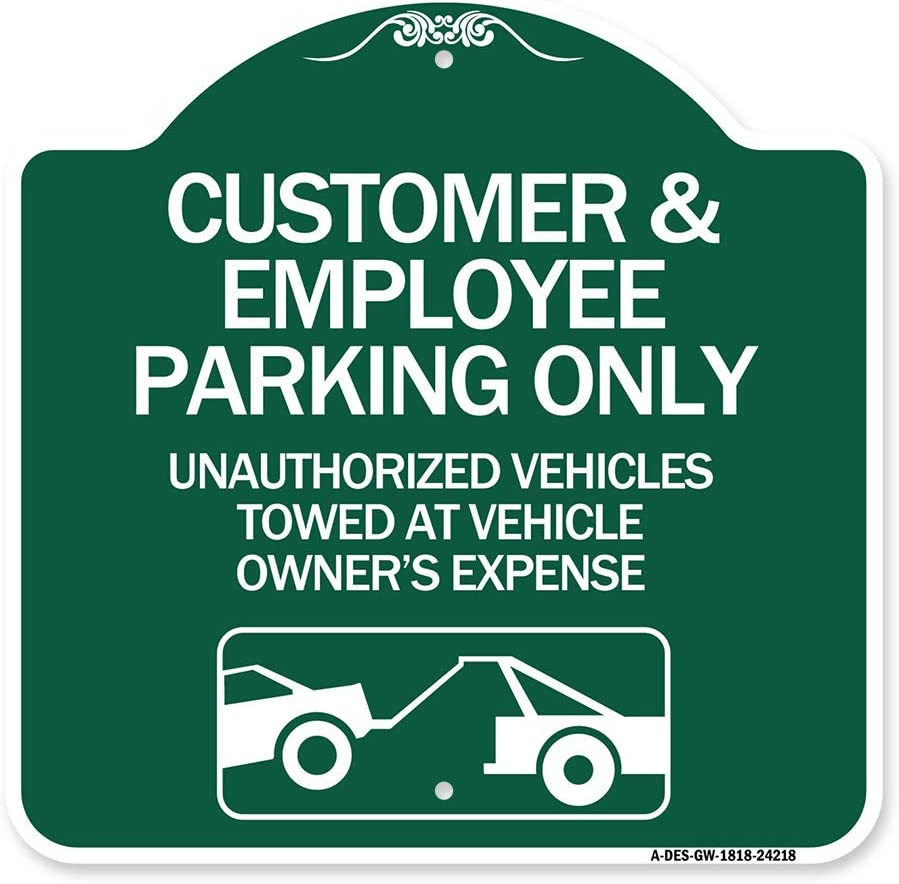 SignMission Award-winning store Designer Series Sign - Customer Employee and Challenge the lowest price Parking