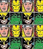 Marvel Superhelden-Gesichter, offizielles Lizenzprodukt,